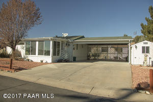 Photo of 587 N Blue Spruce Drive, Prescott Valley, AZ a single family manufactured home around 1100 Sq Ft., 2 Beds, 2 Baths
