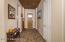 Foyer with porcelain tile