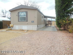 Photo of 3780 N Dowling Court, Prescott Valley, AZ a single family manufactured home around 1000 Sq Ft., 3 Beds, 2 Baths