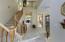 With Coat Closet, Diagonal Tile Flooring,Upgraded Wood Stair Railing & 2 Tone Interior Paint.