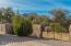 Gated access to back walled patio area ... natural setting w/trees & Granite Mountain backdrop