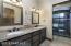 Dual sinks in guest bath