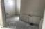 Master bath tub area and dual split sink area