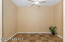 Tiled Bonus Room with Lighted Ceiling Fan & French Door to Atrium Courtyard, Sunny Window w/ Horizontal Blind, 2 Tone Paint. Could Be 4th Bedroom.