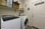 with Tiled Flooring & Laundry Shelf.