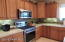 Solid wood Hickory Cabinets and Stainless Steel Appliances