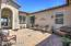 Really Nice & Serene Paver Front Courtyard with Covered Front Door Entry & Custom Iron Security Front Door.