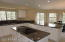 Gourmet center cook station in this huge kitchen with abundant cabinet space!