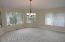 Spacious formal dining room with bayed windows...great flow for parties and fun!