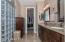 Big Tile & Glass Block Walk In Shower