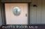 Protected Entry door with decorator door bell