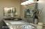 "New double bowl 36"" tall vanity, granite counters, plumbing fixtures,decorator mirrors & medicine cabinet"