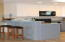Breakfast bar, skylight and recessed lighting