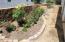 Rear yard flower bed.