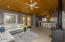 A large gathering, casual dining and kitchen space provides the focus of the house