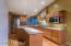 Chef's kitchen with granite countertops