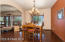 Formal Dining area.Look at those beautiful wood windows!