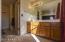 Separate vanity in master bedroom