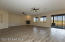 Open floor plan with beautiful view of state land behind