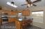 Breakfast bar, Hickory Cabinets, skylight