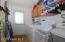 Large Laundry room with backyard access