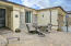 Nice Paver Courtyard with Stacked Stone Accents, Front Screen Door & French Door Entry to Casita.