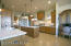 Updated granite on counters and new lighting completes the modern look