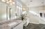 Master BA w/Dual Sinks & Vanity, Granite Counters, Lrg Walk In Shower, Walk In Closet and Private Toilet Rm.