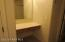 Built in separate vanity area in Master BA with mirror and drawers