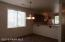 Dining area vacant