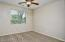with Lighted Ceiling Fan, Sunny Window w/Horizontal Blinds, New 2 Tone Paint, Carpet Flooring & Sliding Door Closet.