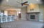 This home has a spacious open concept with upgraded carpet and tile and so much more.