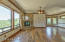 Large picture windows frame the fantastic Granite Mountain views