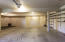 Oversized 2 car garage with rear and side bump outs for additional storage