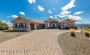 ENJOY THE VIEWS FROM THIS NEWER HOME IN PRESCOTT BUILT IN 2015 THIS 2650 SQ FT 3 BEDROOM, 3 BATH SINGLE LEVEL HOME WITH A 3 CAR GARAGE. ON LEVEL VIEW LOT, END OF CUL-DE-SAC. IN PRESCOTT WITH NO HOA! ON OVER 1/2 ACRE LOT.