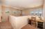 Upstairs Loft with Desk Niche, Recessed Lighting, 2 Tone Paint & Carpet Flooring.