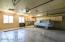 Oversized garage with built in storage.