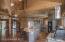 Kitchen area loft above