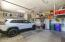Oversized two car garage.
