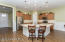 Open kitchen with breakfast bar & upgraded cabinets