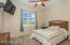 Split floor plan offers an over sized guest room