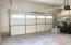 Oversized 2 Car Garage has built in storage.