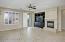 Open Great Room w/Cozy Gas Fireplace, Lighted Ceiling Fan, Plantation Shutters, Media Niche w/TV included.