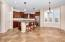 Large Kitchen/Dining Area with Bay Window