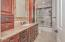Full guest bathroom which was fully remodeled.