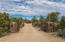 Gabion gated private driveway