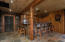 Complete wet bar with seating for six