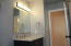 bathroom in walkout basement