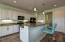 Ample counter space and center island.