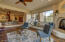 Living room open to foyer